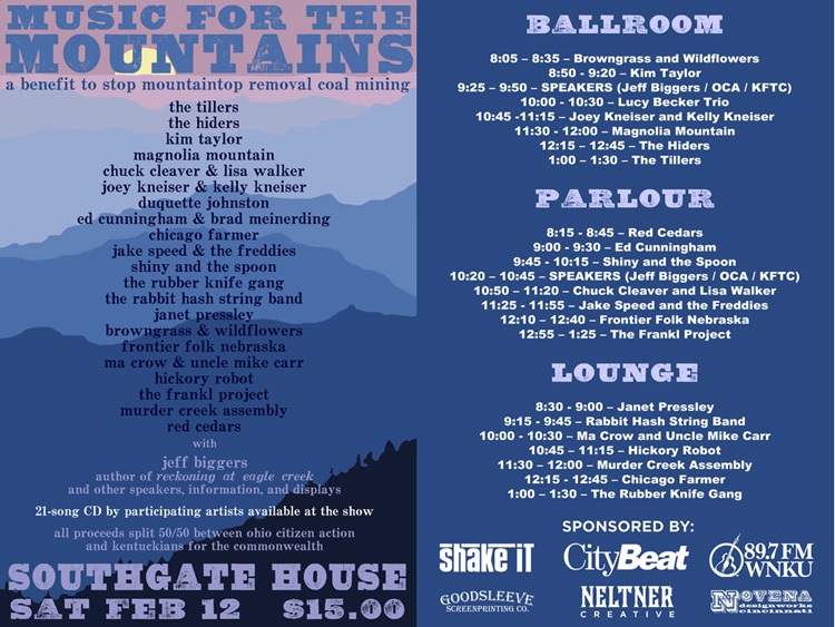 """Music for the Mountains"" Performance Schedule"